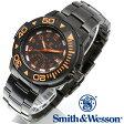 [送料無料] [正規品] スミス&ウェッソン Smith & Wesson スイス トリチウム ミリタリー腕時計 SWISS TRITIUM DIVER WATCH BLACK/ORANGE SWW-900-OR [あす楽] [ラッピング無料]