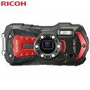 リコー WG-60-RD コンパクトデジタルカメラ 防水 耐衝撃 防塵 耐寒 タフネスカメラ レッド