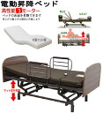 床面昇降式 電動リクライニングベッド 組立設置付 快適 高機能 人気の3モーター(mfb-1
