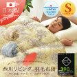 西川リビング 羽毛布団 シングルサイズ 日本製 ホワイトグースダウン90% 抗菌 防臭 ダウンパワーは390c㎥エクセルゴールドラベルクラス うもうふとん 羽毛ふとん 掛け布団 あったか 【送料無料】 エムール