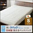 洗える ベッドパッド 敷きパッド 敷パッド 日本製 シングルサイズ 約100×200cm マイティトップ2使用 防ダニ 抗菌 防臭 丸洗いOK エムール