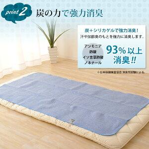 洗える炭入り除湿シートシングルサイズ/90×180cm