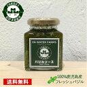 【送料無料】100%鹿児島県産バジル バジルソース(バジルペースト)180g 瓶詰め