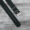 EMPIRE NATO スリムなのに丈夫なシリコン 時計 ベルト 腕時計 バンド ブラック 18mm 20mm 22mm