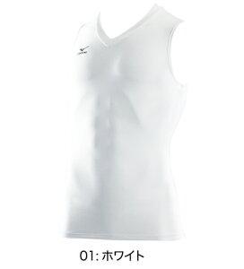 ミズノmizunoドライアクセルVネックノースリーブシャツA60BS357バイオギア