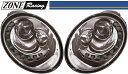 【M's】VW ニュービートル 後期(05y-10y)ZONE RACING製 The Beetle-ルック プロジェクター Bi-ハロゲン ヘッドライト Ty...
