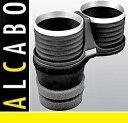 【M's】ポルシェ カイエン 958(2010y-)ALCABO ドリンクホルダー(ブラック+アルミリング カップタイプ)//アルカボ カップホルダー PORSCHE AL-M312BS ALM312BS