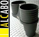 【M's】アルファロメオ ミト(2008y-)ALCABO ドリンクホルダー(ブラック)//ツインタイプ Alfa Romeo MITO アルカボ AL-A101B ALA101B 新品