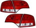 【M's】アウディ AUDI A4 8E ワゴン 05y〜 LED テールレンズ左右(レッド/クリスタル クリア・タイプ-1)新品