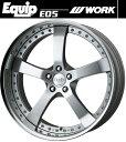 【M's】WORK Equip E05 ホイール 19インチ 8.5j ファインハイトシルバー2(FS2) 1本// ワーク エクイップ 鍛造 3ピース 新品