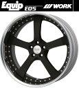 【M's】WORK Equip E05 ホイール 19インチ 15.0j ブラックアルマイト(SKA/B) 1本// ワーク エクイップ 鍛造 3ピース 新品 マット ブラック 黒