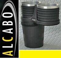 【M's】W205 S205 C205 ベンツ AMG Cクラス(2014y-)ALCABO ドリンクホルダー(ブラック+アルミリング カップタイプ)//アルカボ カップホルダー C180 C200 C220 C250 C300 C350 C43 C63 セダン ワゴン クーペ AL-B107BS ALB107BS