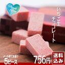 いちご生チョコレート 5ピース 和菓子屋しっとりチョコレート 送料込み メール便配送...