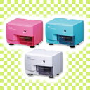 Electric pencil sharpener EPS100 blue pink white Eco &amp; safety binding (with prevention of electric pencil sharpener / four angles type / Shin pull / waste cut, the safe stopper)