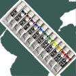 【ターナーアクリル絵具】ターナーアクリルガッシュ12色スクールセット(11mlチューブ入)