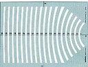 【ドラパス テンプレート】 ドラパステンプレート円・円周・一般用テンプレート 円周定規B
