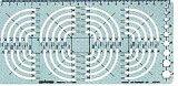 【ドラパス テンプレート】ドラパステンプレート・周・一般用テンプレート アール定規