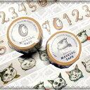 ヒグチユウコ×ホルベイン コラボアイテム 2017年 マスキングテープ 「ネーム」「ナンバー」2個セット(各1個) 30mm×10m巻 YH5-TP30(474-415) ネコ柄/猫柄/数字/