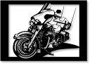 切り紙屋 ハーレー・ダビッドソン(Harley‐Davidson) エレクトラグライド の切り絵 A4サイズ /バイク,手作り作品,モチーフ,インテリア,飾り,展示,アート,紙,ペーパー[int]【送料無料】
