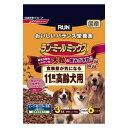 日清ペットフード ラン・ミールミックス 大粒の歯みがき粒入り 食事量が気になる11歳からの高齢犬用 3kg