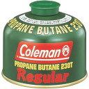 ショッピングcoleman コールマン 純正LPガス[Tタイプ]230G【5103A230T】約φ11×8.8(h)cm