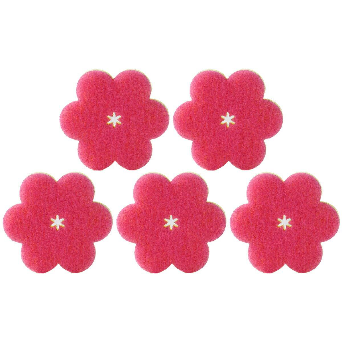 マーナスポンジおはなスポンジディープピンクK364DP5個セット日本国内正規品あす楽マーナMarna