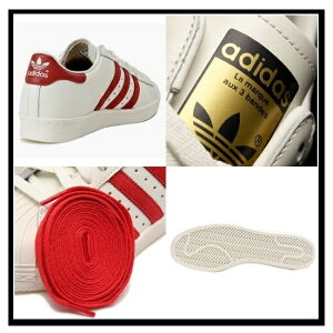 adidasORIGINALS(アディダス)SUPERSTAR80SVINTAGEDELUXE(スーパースター)メンズシューズスニーカーB35982VINTAGEWHITE/SCARLET/OFFWHITEレッド【国内即納】【正規品】