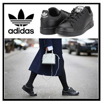 阿迪達斯斯坦史密斯 J 運動鞋阿迪達斯斯坦史密斯女裝鞋運動鞋黑/黑/FTWWHT (黑色) 黑色 M20604