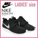 【レディースモデル】NIKE (ナイキ)ROSHE ONE ローシー ワン ROSHERUN ローシラン WOMENS スニーカー BLACK/METALLIC PLATINUM-WHITE ブラック