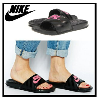 耐克 (Nike) 女性 BENASSI JDI Benassi JDI 婦女健康淋浴涼鞋 (黑/生動粉紅 / 黑) 黑/粉紅 (343881 061)