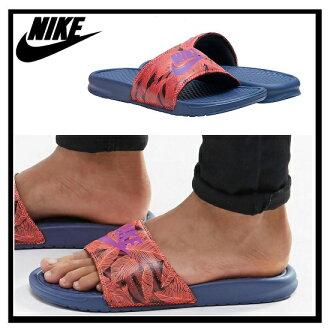 耐克 (Nike) BENASSI JDI 列印 (Benassi JDI 列印) 健康洗澡涼鞋 (TTL CRMSN/HYPR VLT DK 頒發 DST) 紅色/紫色 (631261 855) 無止境的旅途 (無休止的旅行)