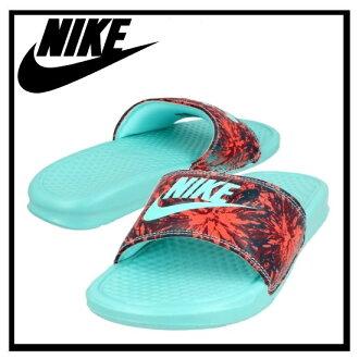 耐克 (Nike) 女性 BENASSI JDI 列印 (Benassi JDI 列印) 健康洗澡涼鞋 (BRGHT CRMSN/HYPR TRQ-MID 關稅配額-C) 紅/綠松石 (618919 603) 無止境的旅途 (無休止的旅行)