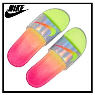 耐克 (Nike) SOLARSOFT OLYFED BENASSI Benassi 太陽能軟健康淋浴涼鞋伏/超粉紅-白色 (白色/粉色/黃色) 835553 761 無止境的旅途 (無盡 trips) 奧運會