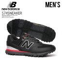 【アウトレット☆訳あり価格商品】 NEW BALANCE(ニューバランス)NBG518 GOLF SHOES MENS ゴルフシューズ スパイクレス BLACK/RED (ブラック/レッド) NBG518 BLACK/RED 【※箱ダメージ もしくは別箱でのお届け】