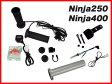 【ENDURANCE】Ninja250(JBK-EX250L)('13.2〜) Ninja400(EBL-EX400E) グリップヒーターセットHG125 電圧計付/5段階調整/エンドキャップ脱着可能/全周巻き/バックライト付/安心の180日保証