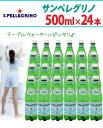 (炭酸水) サンペレグリノ 天然炭酸水 ペットボトル 500mL× 24本入【D】