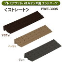 プレミアウッドパネルデッキ用エンドパーツストレート PWE-300S ブラウン・ベージュ・グレー アイリスオーヤマ