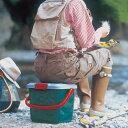 【送料無料】アイリスオーヤマ RVバケツ RV-15B グレー/ダークグリーン 踏み台 いす 工具 レジャー用品 キャンプ用品 バケツ 深型[cpir]