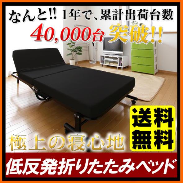 折りたたみベッド シングル OTB-TR 送料無料 折りたたみベッド ベッド 反発マットレス リクライニング 折りたたみ アイリスオーヤマ 折り畳み 低反発ウレタン ベッド 簡易ベッド 寝具 ベット