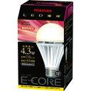 【LED電球】東芝 E-CORE LED 一般電球形4.3WLEL-AW4L 【TC】【smtb-s】【2010_野球_sale】