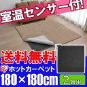 【在庫処分特価】【送料無料】アイリスオーヤマ efeel(エフィール)室温センサー付ホットカーペット 2畳用SHC-2H おしゃれ◆2