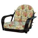 回転座椅子 ダークブラウン RZ-931DBR送料無料 座椅子 椅子 イス いす 籐製 ラタン おしゃれ 座椅子いす 座椅子おしゃれ 椅子いす いす座椅子 おしゃれ座椅子 いす椅子 萩原 【TD】 【代引不可】