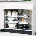 シンク下伸縮棚 USD-2V キッチン用品/収納/小物収納〔キッチン収納 シンク 整理 小物収納 食...