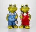【ポイントキャンペーン中】【RCP】S579  ラブリー フロッグ カエル置物 S 4Pセット/オーナメント/カエル/置物/カントリー/ガーデニングオブジェ
