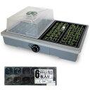 家庭用発芽育苗器:愛菜花と育苗ポットミニ12穴6枚のセット