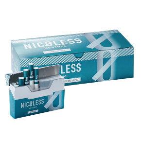 NICOLESS ニコレス メンソール 1カートン (10箱入り) 加熱式タバコ 加熱式たばこ ニコチン0 タール たばこ風 電子タバコ 電子たばこ 禁煙グッズ 互換機 スタイル IQOS互換機