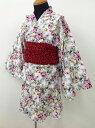 着付けも簡単です♪★【nicoris ancien】【ガールズ】 花柄×浴衣 110cm/120cmお手軽に浴衣スタイル♪甚平