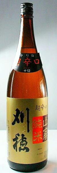 【秋田の地酒】「刈穂 山廃純米酒 超辛口」 1.8lの商品画像