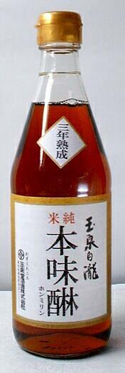 【三年熟成】「玉泉白瀧 三年熟成 純米本味醂」 500ml