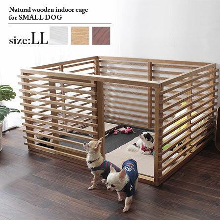 送料無料幅135小型犬ケージLLサイズサークル犬犬用犬用品木製フェンス天然木木カートゲート柵室内屋内